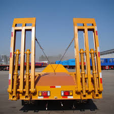 100 Semi Truck Trailers 3 Axles Triaxles 50 60 Tons Lowboy Lowbed Price Low Bed