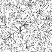 Enchanted Garden Coloring Book Floral