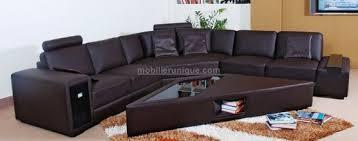 table pour canapé canapé cuir d angle