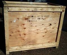 40Sturdy Plywood And Solid Wood Shipping Crate Outside Dims 31Lx18 3 4Wx 25 D