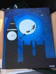 For My Mommas Bday Peterpan Canvas Disney