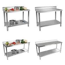 details zu tisch arbeitstisch edelstahltisch küchentisch edelstahl gastro aufkantung küche