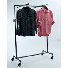 Great Looking New Take On A 4 Way Clothing Rack Pipeline Collection Rolling With