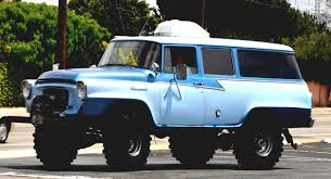 1957 International Travelall Retro 4x4 Truck Offroad F Wallpaper ...