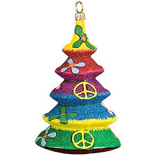 Glitterazzi Joy To The World Collectibles Tie Dye Christmas Tree Ornament