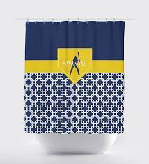 Royal Blue Bathroom Accessories by Home Plate Softball Shower Curtain For Girls Chain Link U2013 Shop