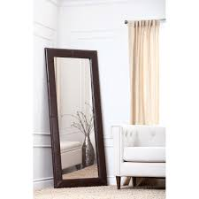 BrandtWorks Burgundy Fair Leaning Floor Mirror