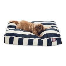 shop majestic pets navy blue polyester rectangular dog bed at