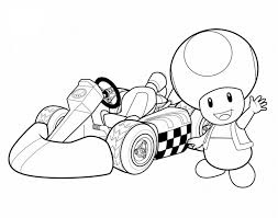 Coloriage Toad De Mario Kart à Imprimer Et Colorier