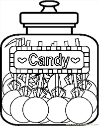 Candyjar8bw Coloring Page