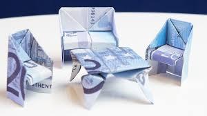 geldgeschenk einzug sitzbank falten aus geldschein