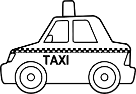 Basic Taxi Toy Car Coloring Page