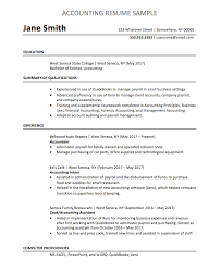 Accountant Resume Text Format