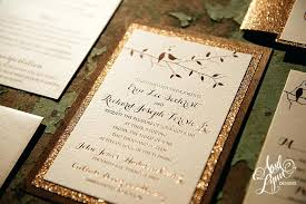 Formidable Gold Wedding Invitation 12 Rustic Glam Rose Foil And Glitter Wooden Suite