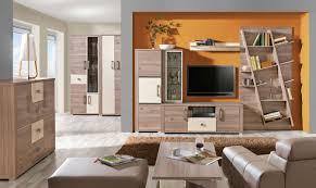 wohnzimmer komplett set e cavalla 9 teilig farbe eiche creme