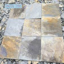 Slate Culture Stone Natural Wall Cladding Multi Color Cut To Size Tile Veneer Panel