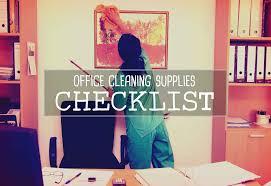fice Cleaning Supplies Checklist