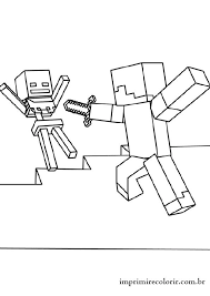 Roblox Vs Minecraft Coloring Pages Printable And Book To Print For Free Find More Online Kids Adults Of