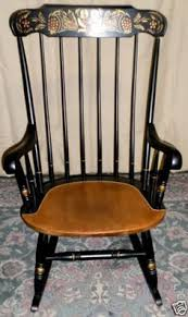 Nichols And Stone Windsor Armchair by Antique Nichols And Stone Stenciled Black Rocker Rocking Chair