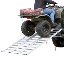 Aluminum Extra-Wide Tri-Fold ATV Ramp - 6'5