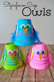 89 Styrofoam Cups Turned Into Colorful Owls