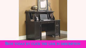 Sauder Edge Water Computer Desk With Hutch by Sauder Edge Water Computer Desk Estate Black Youtube