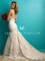 open back strapless sweetheart classic mermaid dropped lace