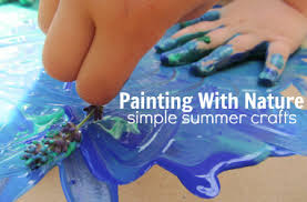 Painting With Nature Simple Summer Crafts
