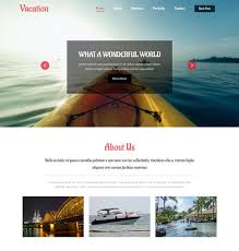 Vacation Travel Website 5 Bootstrap Template