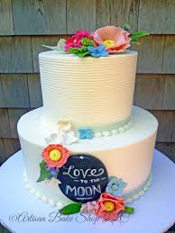 Love To The Moon Shabby Rustic Chic Cake