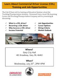 Gary To Host Trucking/transportation Educational Seminar | Gary ... Local Truck Driver Resume Samples Velvet Jobs Entrylevel Driving No Experience Job Description And Template Tanker In Chicago Best Resource Illinois Cdl In Il Make Money Without A College Degree As Truck Driver Mesilla Valley Transportation Movers Hollander Storage Moving Since 1888 Keep On Truckin Inside The Shortage Of Us Drivers