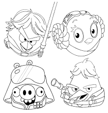 Angry Birds Space Coloring Pages Star Wars Printable For Kids Full Size