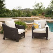 Smith And Hawkins Patio Furniture Cushions by Caspian Outdoor Patio Furniture Multibrown Wicker Club Chair With