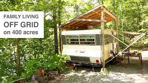 100 Tree House Studio Wood Family Living Off Grid In Camper Trailer Style