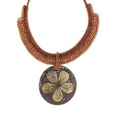 India Necklace Made Of Coconut Shell