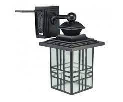 14 mission style wall lantern with built in electrical outlet