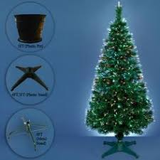 3FT 4FT 5FT 6FT Green Artificial Fibre Optic Christmas Tree Xmas Decorations