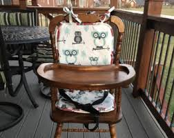 Eddie Bauer Wood High Chair Cover by Highchair Pad Etsy