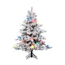 5 Ft Pre Lit Multicolor Christmas Tree by Shop Vickerman 4 5 Ft Pre Lit Alaskan Pine Flocked Artificial