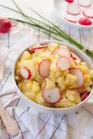 weltbester kartoffelsalat mit rügenwalder mühle veggieschnitzel