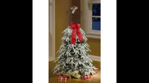 Pre Lit White Flocked Christmas Tree by Flocked Christmas Tree Dress Form Mannequin 5 Ft Pre Lit