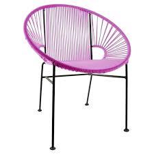 Pink Papasan Chair Fuzzy