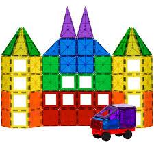 Magna Tiles Master Set by Magnet Building Toys 40 Piece Magnetic Blocks Building Toys