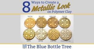 Viva Decor Inka Gold Pastels by 8 Ways To Create A Metallic Look On Polymer Clay The Blue Bottle