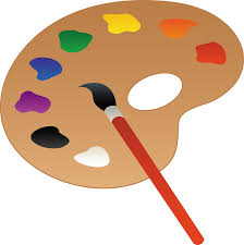 Palette Vector Paintbrush Paint Colors Svg Black And White Download