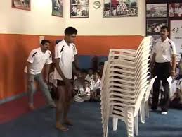 Lifetime Stacking Chairs 2830 by World Record For Jumping On Stack Of 14 Chairs Youtube
