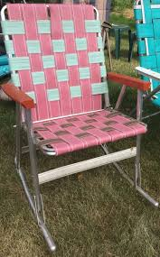 Vintage Aluminum Webbed Rocking Lawn Chairs Folding Patio Sams Beach ... Stylish Collection Of Outdoor Chaise Lounge Chairs Sling Pair Of Lawn By Telescope Fniture Company For Sale At 1stdibs A Guide To Buying Vintage Patio Design Costco Beach Inspiring Fabric Sheet Chair Cheap Find Deals On Line Rejuvenate Metal 12 Steps With Pictures Table Clearance Big Home Depot Macram Blue White Retro Antique Knitted Bean Bag 56 Gliders 1000 Ideas About Details About 2 Vintage Sunbeam Matching Alinum Folding Webbed