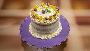 zitronen mascarpone torte mit cashew krokant