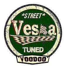 2 X Vespa Voodoo Street Tuned Stickers