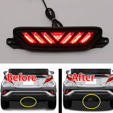Brake Lamp Bulb Fault 2014 Ford Escape by Nice Great Red Lens Rear Bumper Fog Light Tail Lamp Led Cover For